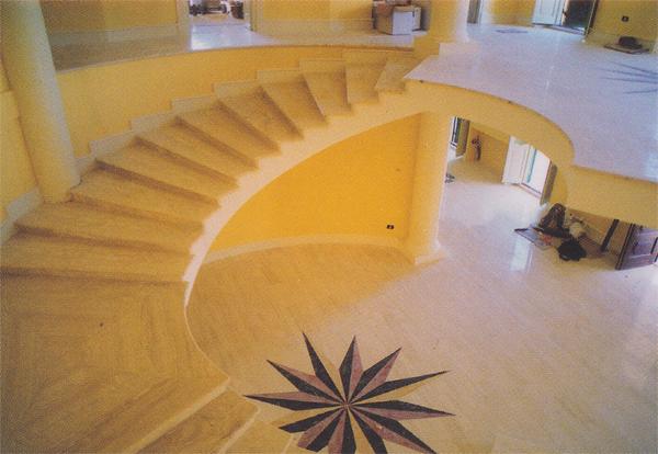 Scale moderne in marmo scala ferro e marmo dove cu - Scale interne in marmo ...